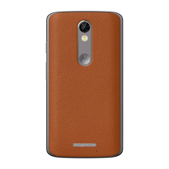 Droid Turbo 2 Natural Leather Back
